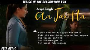 Aa Jao Na Lyrics