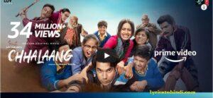 Chhalaang movie all song lyrics - Rajkummar Rao