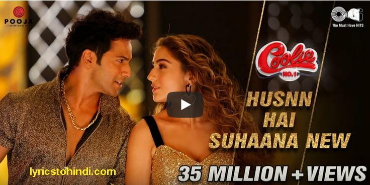 Husnn Hai Suhaana 2.0 lyrics - Coolie No.1 Varun Dhawan