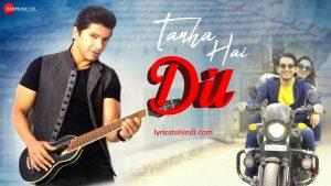 Tanha Hai Dil Lyrics, Tanha Hai Dil Lyrics in hindi, Tanha Hai Dil Lyrics of Shaan, Tanha Hai Dil Lyrics 2021, तन्हा है दिल लिरिक्स इन हिंदी ,