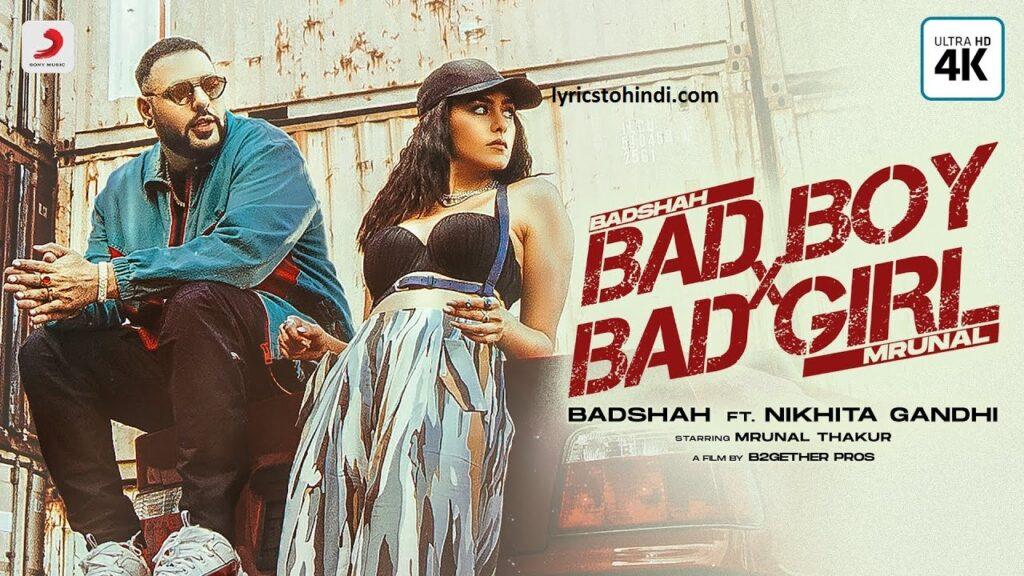 Bad Boy x Bad Girl lyrics, Bad Boy x Bad Girl lyrics in hindi, Bad Boy x Bad Girl lyrics of badshah, Bad Boy x Bad Girl song lyrics, बैड बॉय बैड गर्ल लिरिक्स इन हिंदी ,